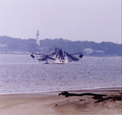 A fishing trawler in Jekyll Island, GA waters