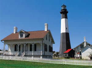 At the mouth of the Savannah River is the Tybee Island Light Station (pictured)