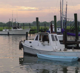 Mount Pleasant, SC - creek - boats - sunset